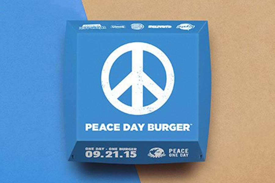 ‪#‎PeaceDayBurger